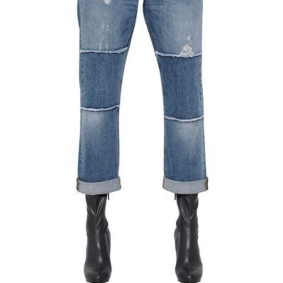 Stella McCartney Patchwork Organic Denim Jeans